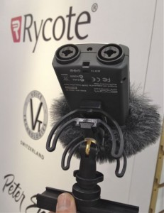 A shock mount for your audio recorder
