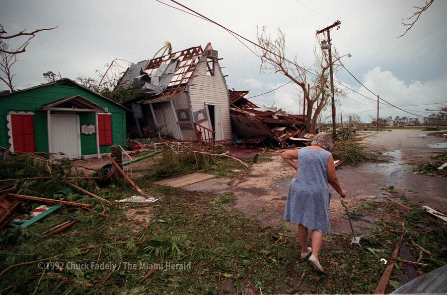 Cauley Square after Hurricane Andrew